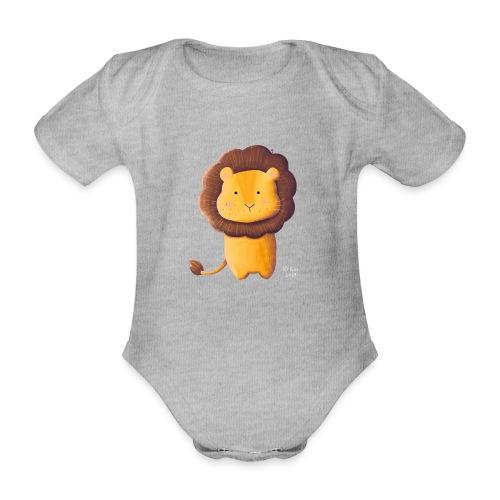 Kleiner Löwe - Baby Bio-Kurzarm-Body