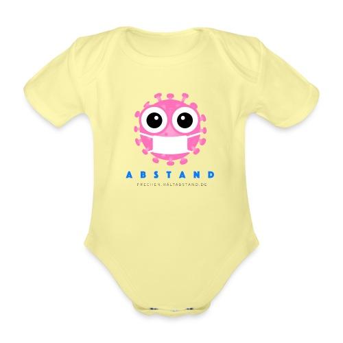 Frechen hält ABSTAND - Rosa - Baby Bio-Kurzarm-Body
