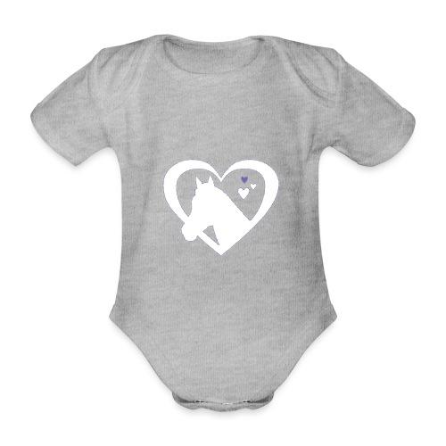 horse heart - Baby bio-rompertje met korte mouwen