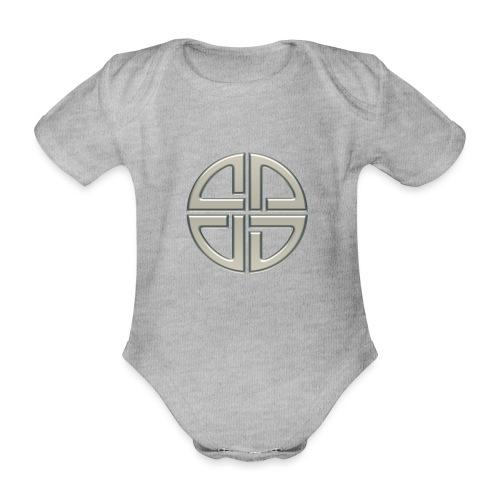 Schildknoten, Keltischer Knoten, Thor Symbol - Baby Bio-Kurzarm-Body