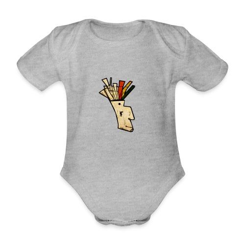 Indian - Organic Short-sleeved Baby Bodysuit
