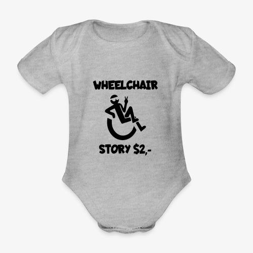 Rolstoel verhaal 001 - Baby bio-rompertje met korte mouwen