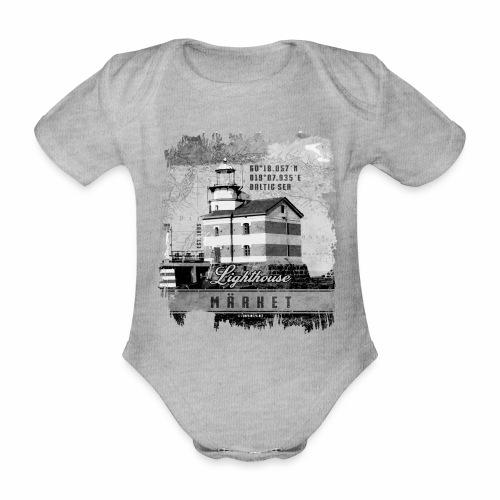 Märket majakkatuotteet, Finland Lighthouse, Harmaa - Vauvan lyhythihainen luomu-body