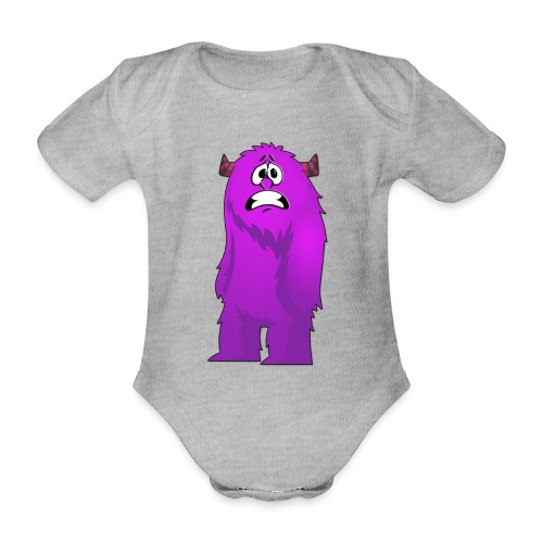 Lila Monster 10 - Baby Bio-Kurzarm-Body