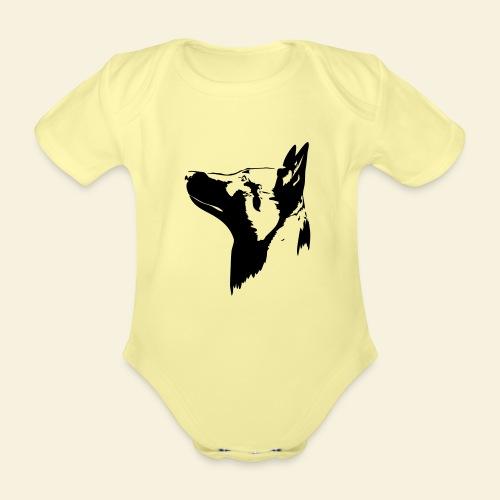 Malinois Portrait - Baby Bio-Kurzarm-Body