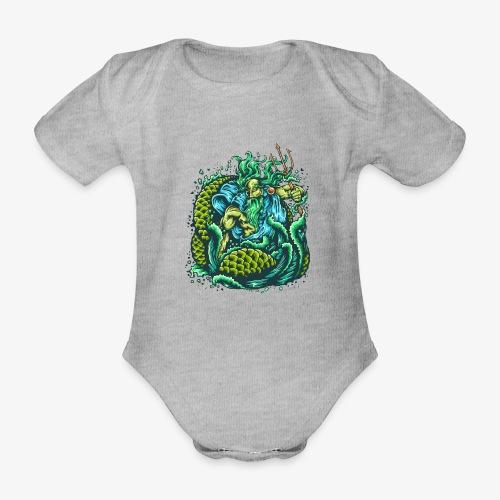 Gott des Meeres - Baby Bio-Kurzarm-Body