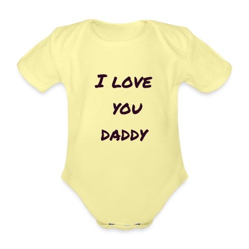 Ich liebe dich Papa - Vatertagsgeschenktipp - Baby Bio-Kurzarm-Body