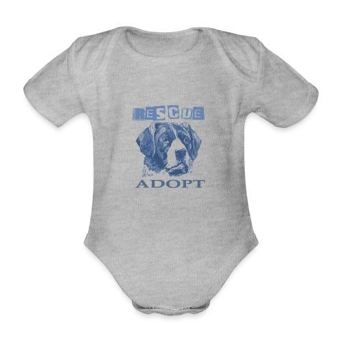 Rescue adopt - Body orgánico de manga corta para bebé