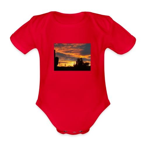 Tramonto rosso - Body ecologico per neonato a manica corta