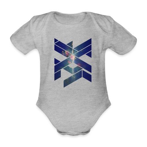 Galaxie Geometische Form - Baby Bio-Kurzarm-Body