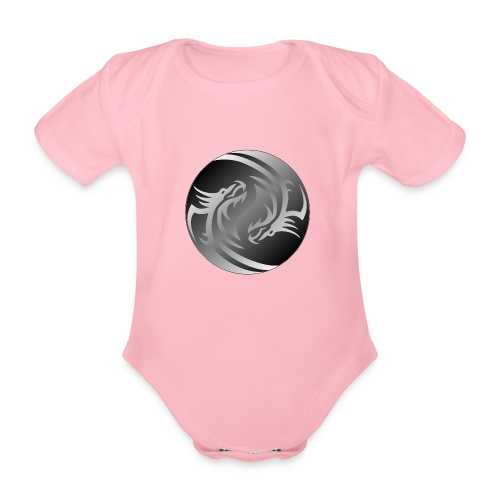 Yin Yang Dragon - Organic Short-sleeved Baby Bodysuit