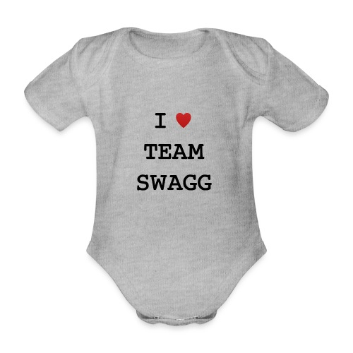 I LOVE TEAMSWAGG - Body Bébé bio manches courtes