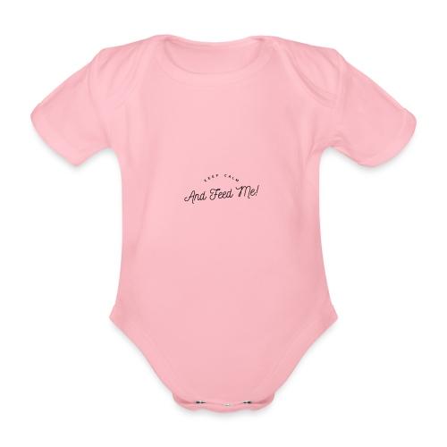 Baby Bekleidung mit lustigem Spruch, Geschenkidee - Baby Bio-Kurzarm-Body