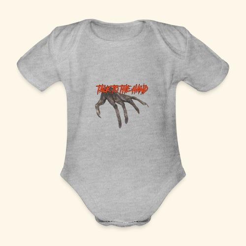 Talk To The Hand - Baby bio-rompertje met korte mouwen