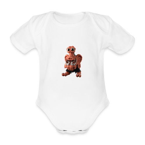 Very positive monster - Organic Short-sleeved Baby Bodysuit