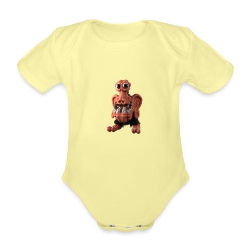 Very positive monster - Organic Short-sleeved Baby Bodysuit