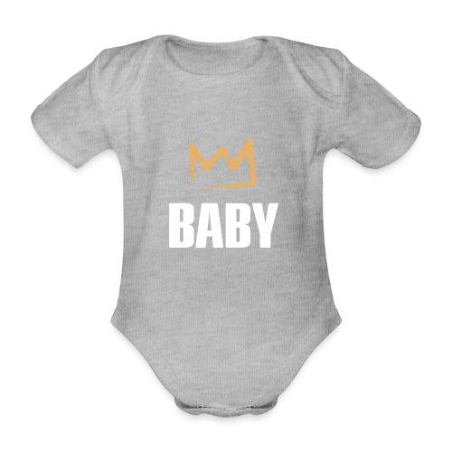 Baby mit Krone - Baby Bio-Kurzarm-Body