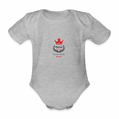 Mamas kleiner Prinz-s - Baby Bio-Kurzarm-Body