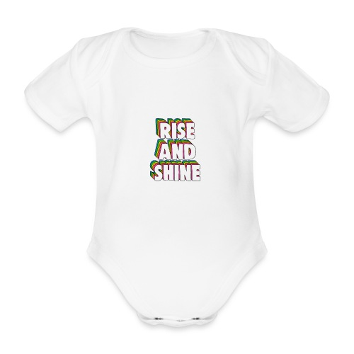 Rise and Shine Meme - Organic Short-sleeved Baby Bodysuit