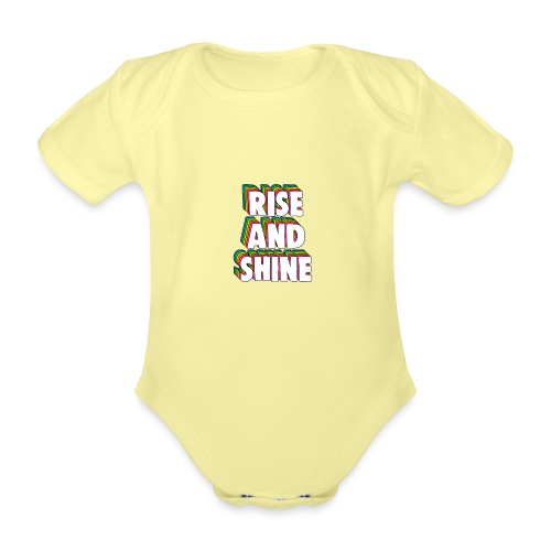 Rise and Shine Meme - Organic Short-sleeved Baby Bodysuit