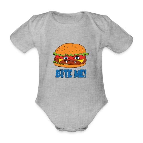 Bite me! - Body ecologico per neonato a manica corta