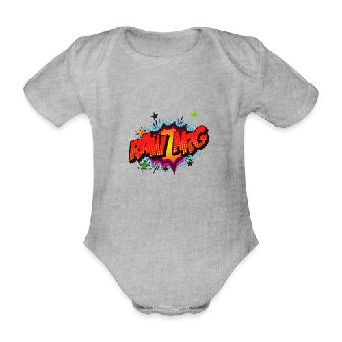 Raw Nrg comic3 - Organic Short-sleeved Baby Bodysuit