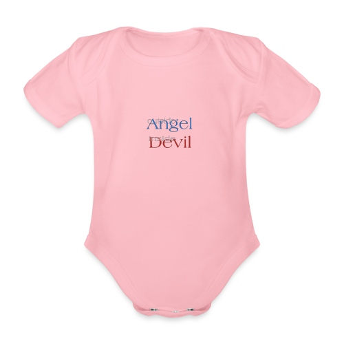 Angelo o Diavolo? - Body ecologico per neonato a manica corta