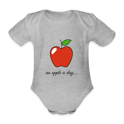 An apple a day ... - Organic Short-sleeved Baby Bodysuit