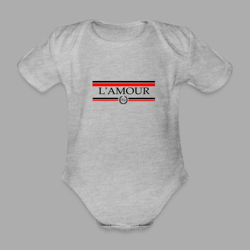 L'AMOUR - Trend Eddition - Organic Short-sleeved Baby Bodysuit