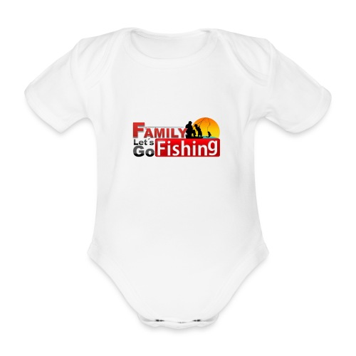 FAMILY LET´S GO FISHING FONDO - Body orgánico de manga corta para bebé
