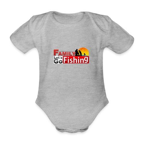 FAMILY LET´S GO FISHING FONDO - Body orgánico de maga corta para bebé