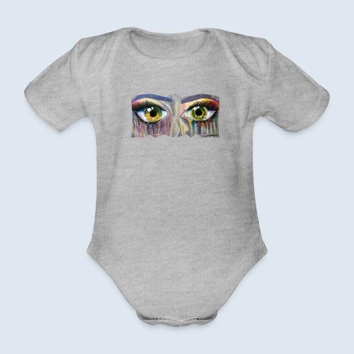 "Augenblick ""open eyes"" made in Berlin - Baby Bio-Kurzarm-Body"