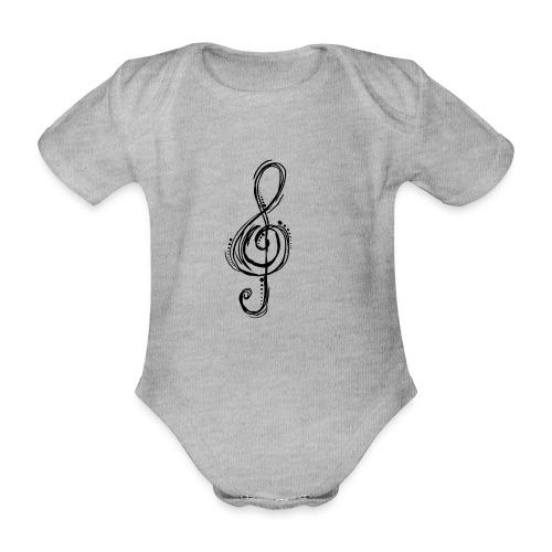 Violinschlüssel - Baby Bio-Kurzarm-Body