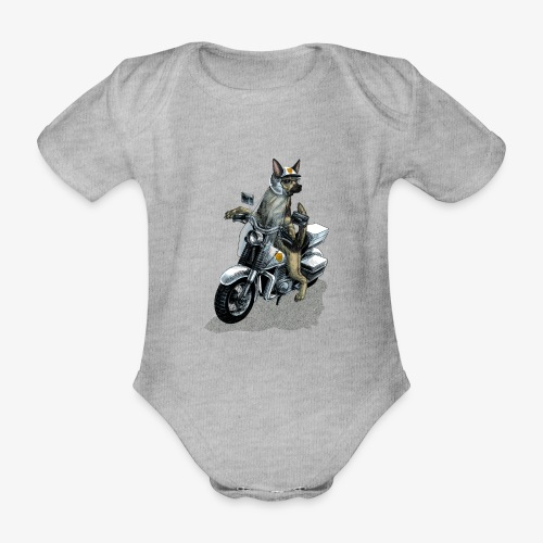 Police Dog - Organic Short-sleeved Baby Bodysuit
