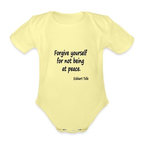 Forgive Yourself - Organic Short-sleeved Baby Bodysuit