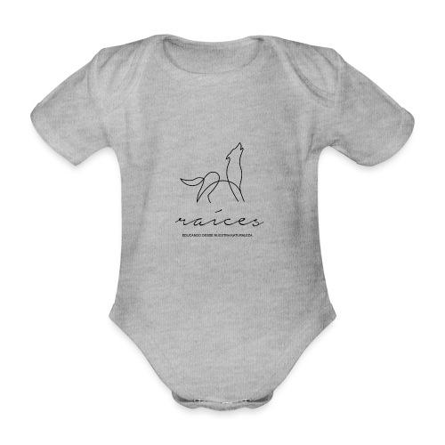 educando desde nuestra naturaleza negro - Body orgánico de maga corta para bebé