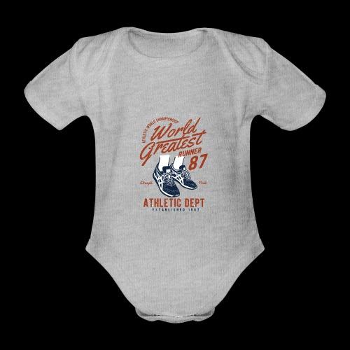 World Greatest Runner - Baby Bio-Kurzarm-Body