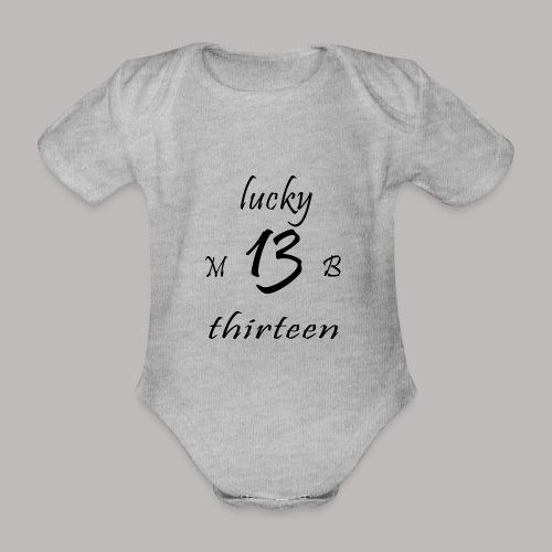 lucky 13 MB - Organic Short-sleeved Baby Bodysuit