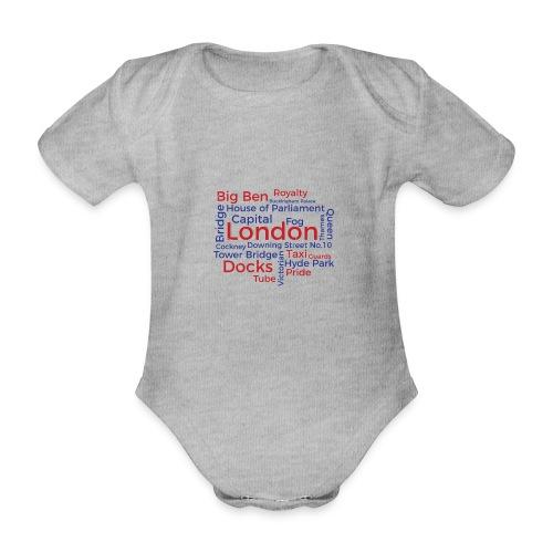 London Word Cloud - London Souvenir Schlagworte - Baby Bio-Kurzarm-Body