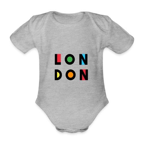 Vintage London Souvenir - Retro Modern Art London - Baby Bio-Kurzarm-Body