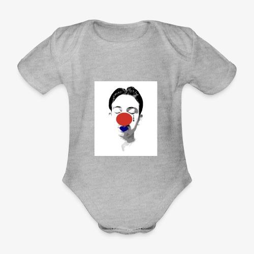 Klovn - Økologisk kortermet baby-body
