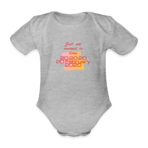 One moment in time - Baby bio-rompertje met korte mouwen