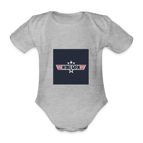 top gun wingman design - Body orgánico de maga corta para bebé