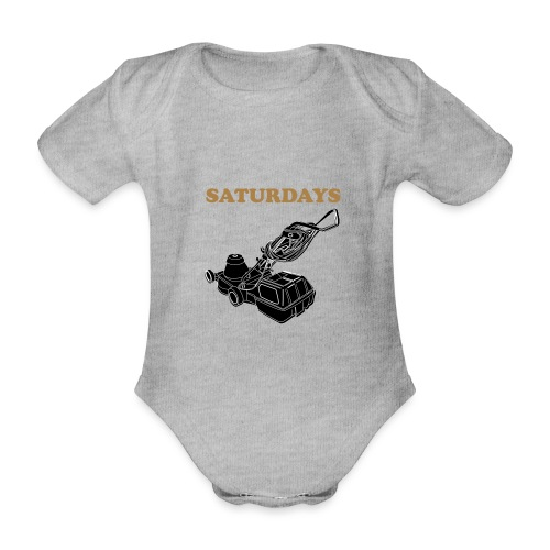 Saturdays Lawnmower - Organic Short-sleeved Baby Bodysuit