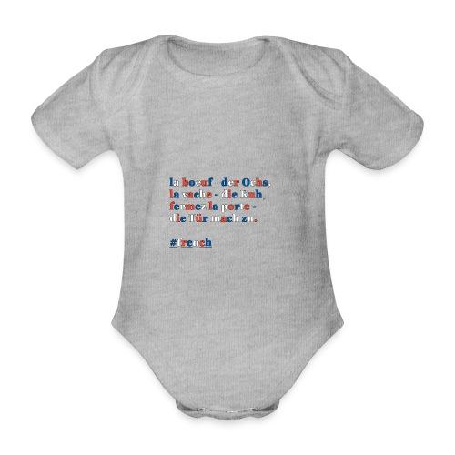 französische Merkhilfe/Eselsbrücke - Baby Bio-Kurzarm-Body