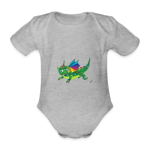 happy dragon - Baby Bio-Kurzarm-Body