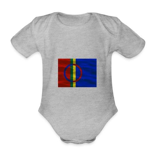 Sapmi flag - Økologisk kortermet baby-body