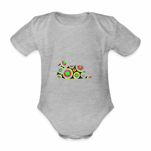 Bunter Schwan mit vielen tollen Farben - Baby Bio-Kurzarm-Body