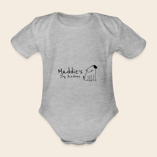 Académie des chiens de Maddie (noir) - Body Bébé bio manches courtes