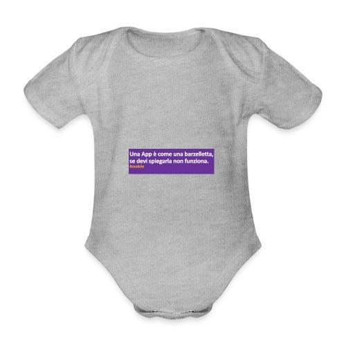 barzelletta - Body ecologico per neonato a manica corta